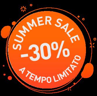 Summer sale: sconto 30%