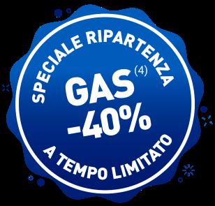 Sconto 40% sul gas